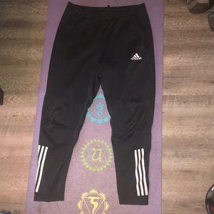 ❤️ Adidas Black a& White Stripe Joggers ❤️